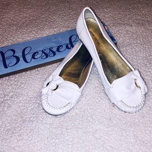 Anne Klein 2 White Loafers